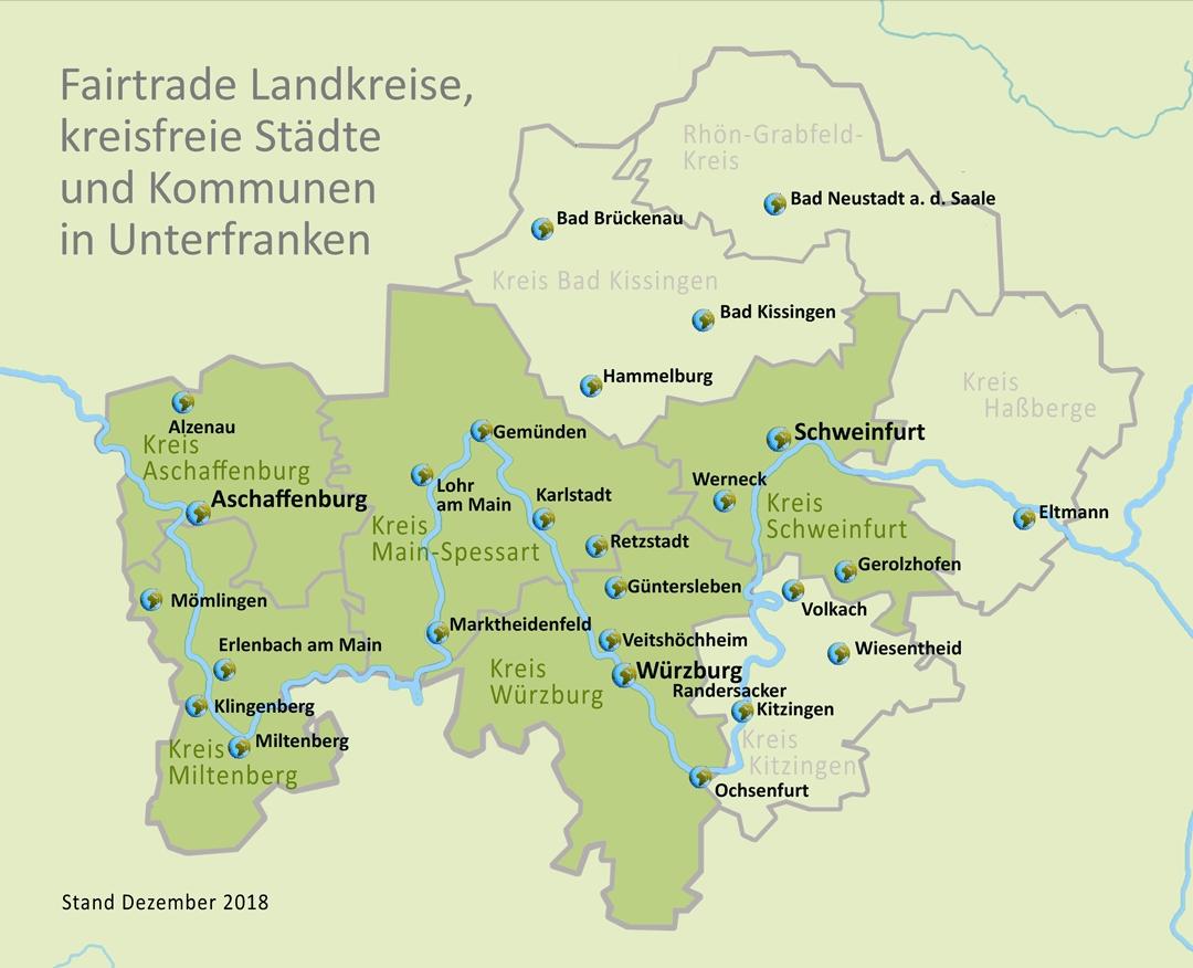 Unterfranken Karte.Spielt Fair Eine Welt Netzwerk Bayern